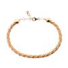 Yellow Gold Diamond Cut Triple Twist Bracelet