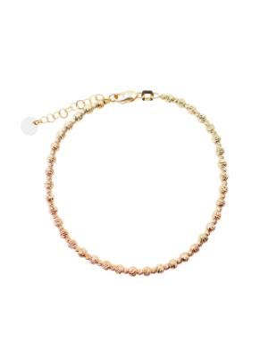 Yellow Gold Diamond Cut Bracelet