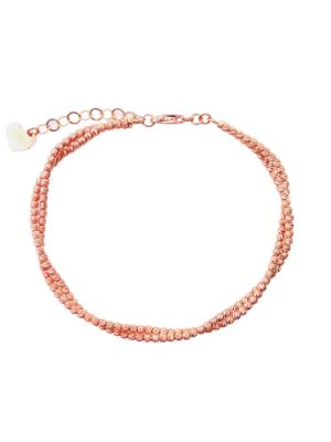 Rose Gold Diamond Cut Double Twist Bracelet