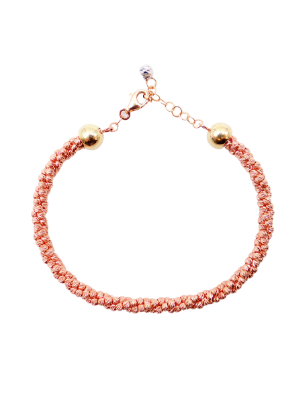 Rose Gold Diamond Cut Triple Twist Bracelet