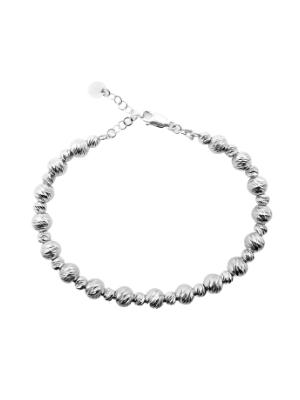 White Gold Diamond Cut Bracelet