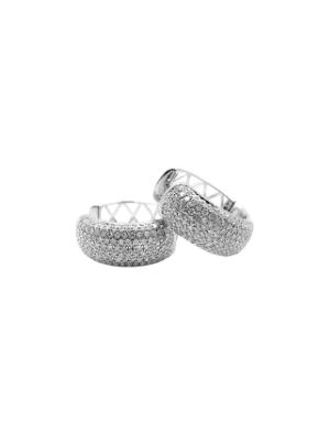 Small Pave Diamond Hoops