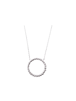 Diamond Cut Open Circle Necklace