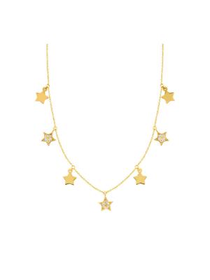 Diamond Star Dangle Necklace