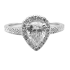 Pear Engagement Ring with Halo