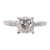 Princess Cut Engagement Ring with Hidden Halo