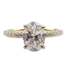 Yellow Gold Oval Engagement Ring