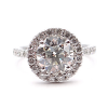 Round Engagement Ring with Round Halo