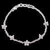Multi Diamond Flower Bracelet
