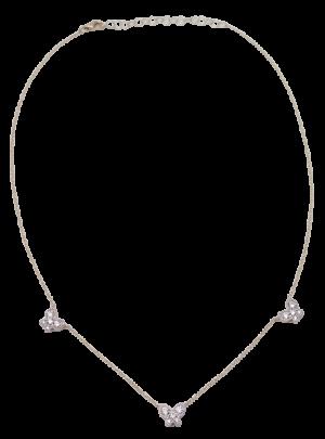 Multi Diamond Butterfly Necklace