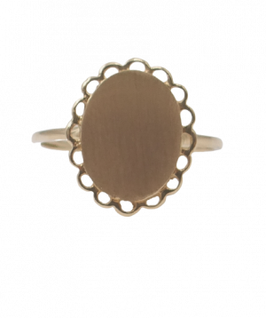 Engravable Gold Signat Ring